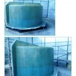 Large moulds circular GRP tanks
