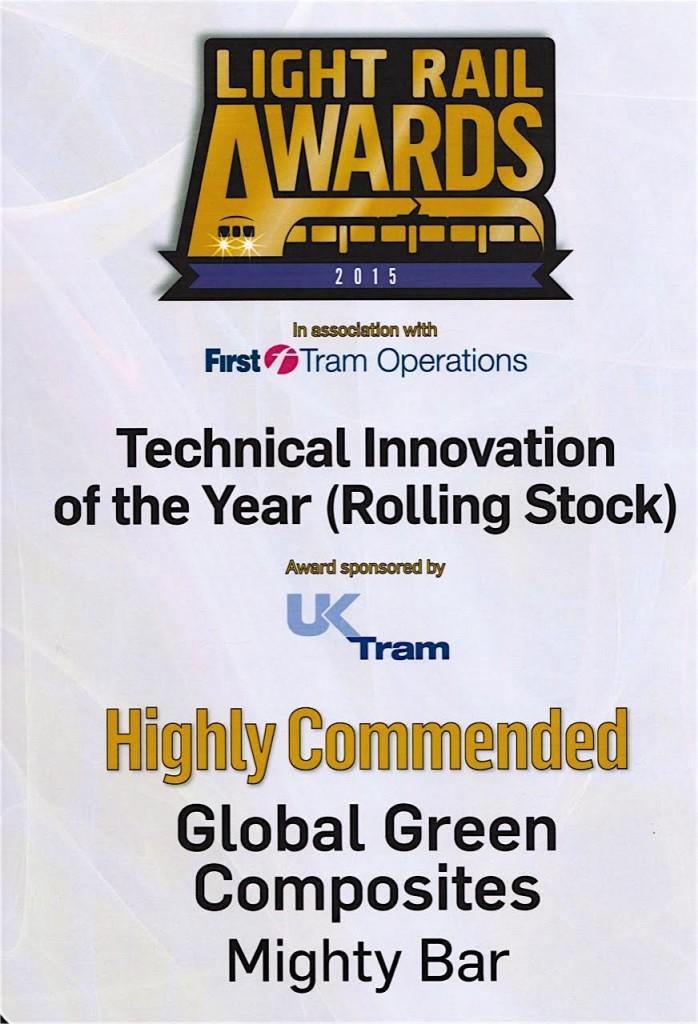 award Mightybar Composite Rail pole